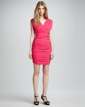 Alice + Olivia Nanette Ruched Dress