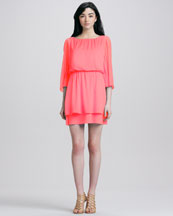 Alice + Olivia Petunia Bell-Sleeve Dress