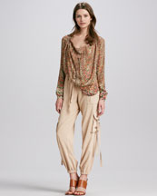 Haute Hippie Drawcord Cargo Pants