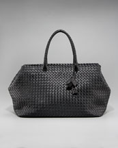 Bottega Veneta Brick Woven Top-Handle Bag