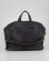 Givenchy Nightingale Zanzi Large Leather Bag, Black
