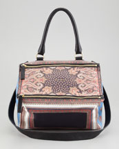 Givenchy Pandora Mix Printed Leather Medium Satchel Bag