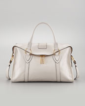 Marc Jacobs Fulton Large Satchel Bag, Chalk