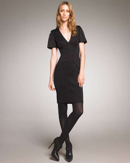 V-Neck Stretch Dress