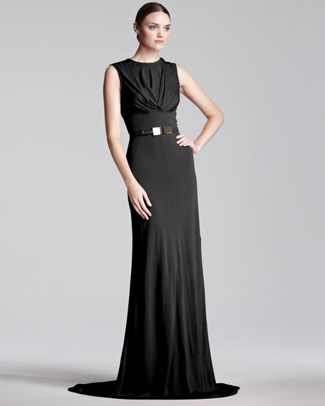 Sleeveless Jersey Gown