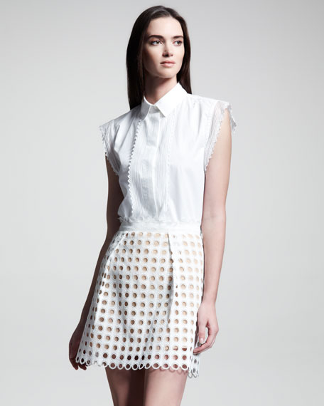 A-Line Eyelet Skirt