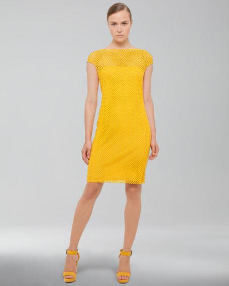 V-Back Cobblestone Knit Dress