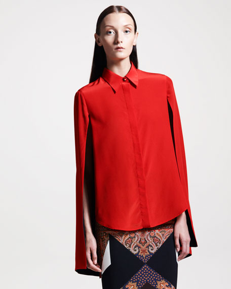 Hanging-Sleeve Blouse