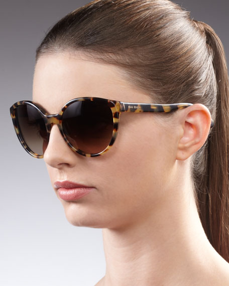 Round Sunglasses, Yellow Havana