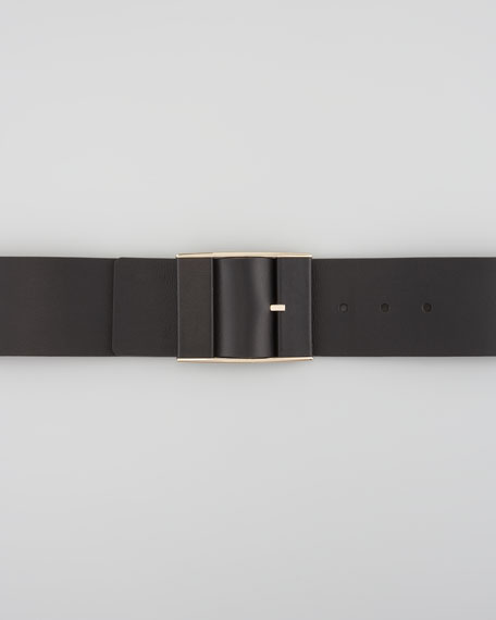 Wide Adjustable Leather Belt