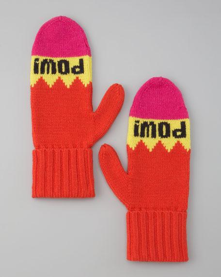 """big apple """"pow! pow!"""" mittens"""