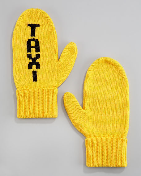 """TAXI"" mittens"