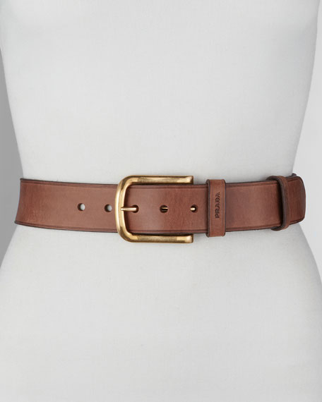 Cuoio Leather Belt, Bruciato