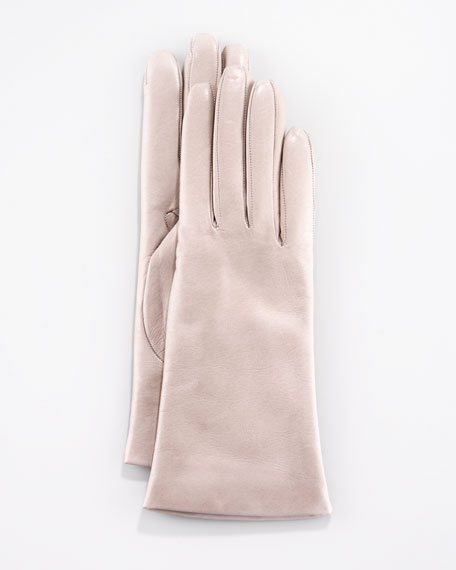Two-Button Classic Gloves, Hematite