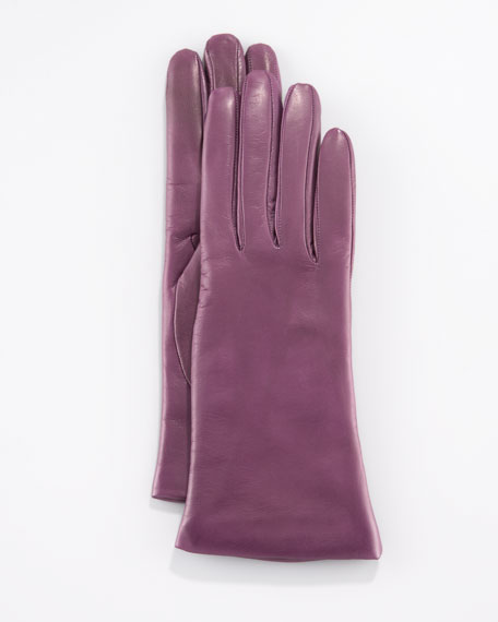 Two-Button Classic Gloves, Fresh Plum