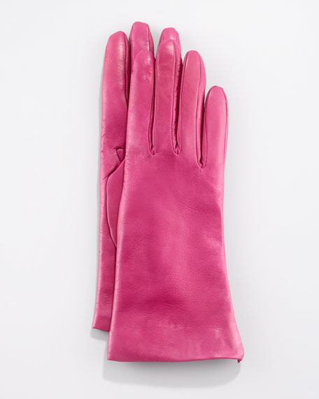 Two-Button Classic Gloves, Magenta