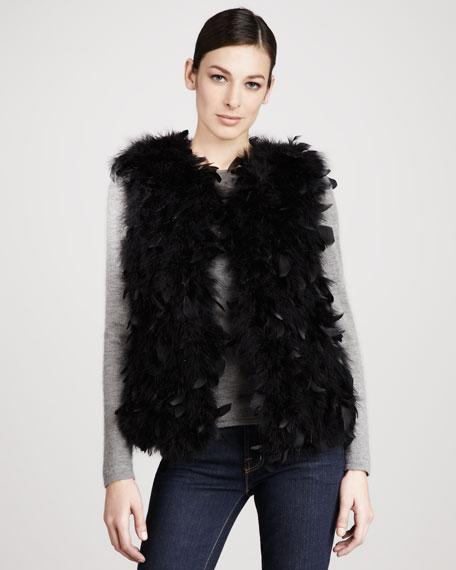 Dyed Turkey Feather Vest