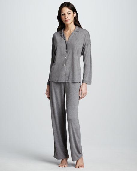 Zen Jersey Pajamas, Heather Gray
