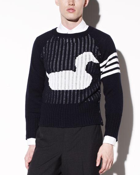 Back-Zip Duck Sweater