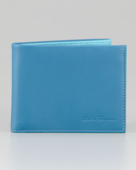 Pop Bicolor Leather Bi-Fold Wallet