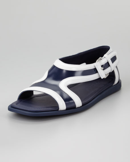 Runway Leather Contrast Sandal