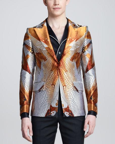 Dragonfly-Print Jacket