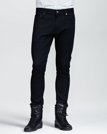 Lightweight Skinny Jeans, Black