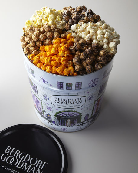 Bergdorf Goodman Label Popcorn Tin