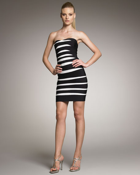 Strapless Contrast Dress