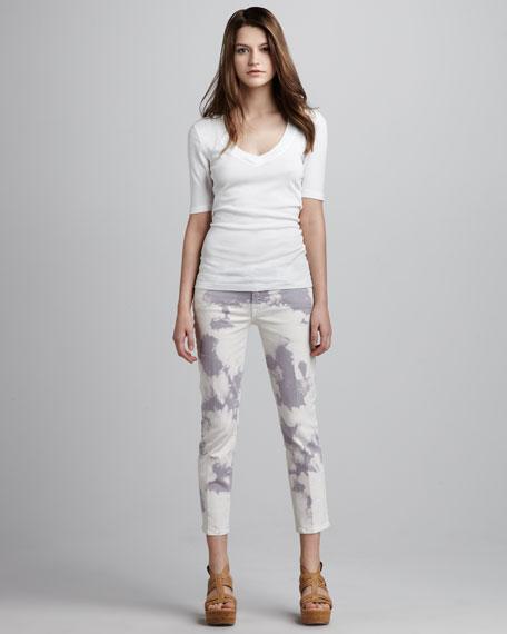 Roxanne Cloud Tie-Dye Cropped Jeans