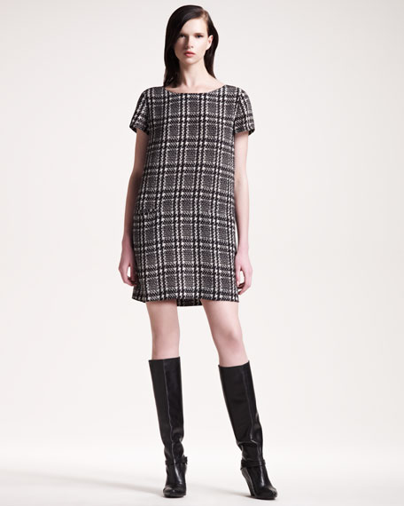 Madeline Houndstooth Shift Dress