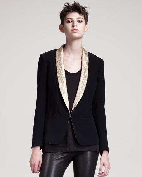 Sliver Tuxedo Jacket, Black