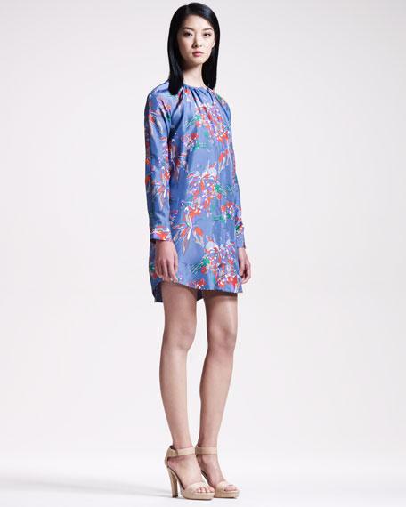 Floral-Print Tunic Dress