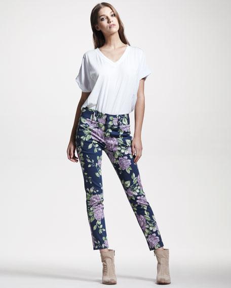 Malin Floral-Print Pants