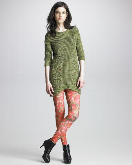 Petal-Printed Leggings