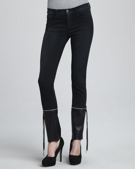 J Brand Jeans Viv Zip Off Cuff Skinny Jeans