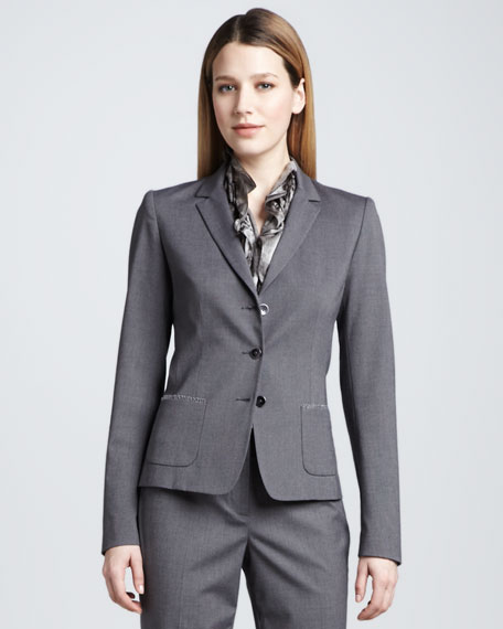 Ava Three-Button Jacket