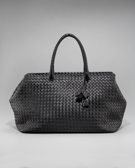 Brick Woven Top-Handle Bag