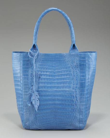 Crocodile Leaf Tote, Medium