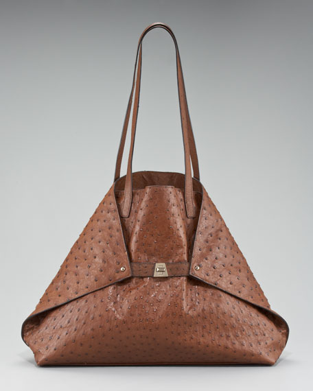 Medium Ostrich Leather Ai Bag