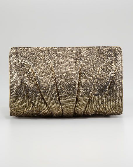 Ruched Python Clutch Bag, Small