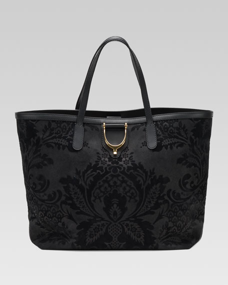 Soft Stirrup Brocade Tote Bag, Medium