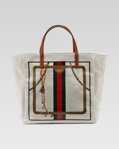 20463342c653 Gucci Small Crystal Signature Web Tote Bag