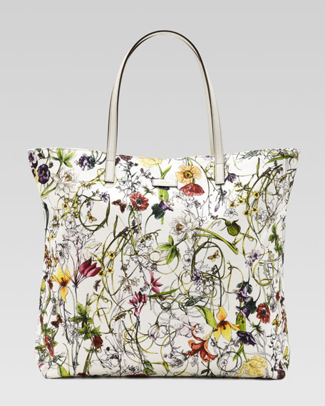 Medium Flora Infinity Canvas Tote Bag