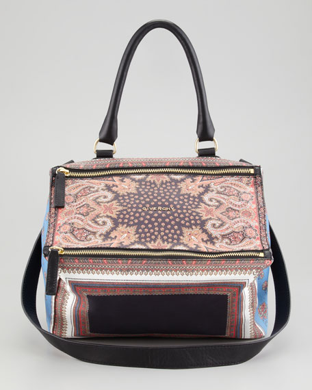 Pandora Mix Printed Leather Medium Satchel Bag