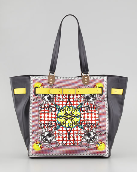 Sybil Large Printed Tote Bag