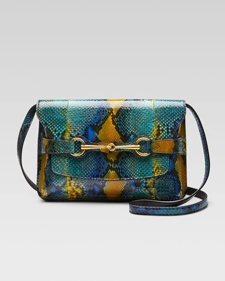 Bright Bit Python Shoulder Bag