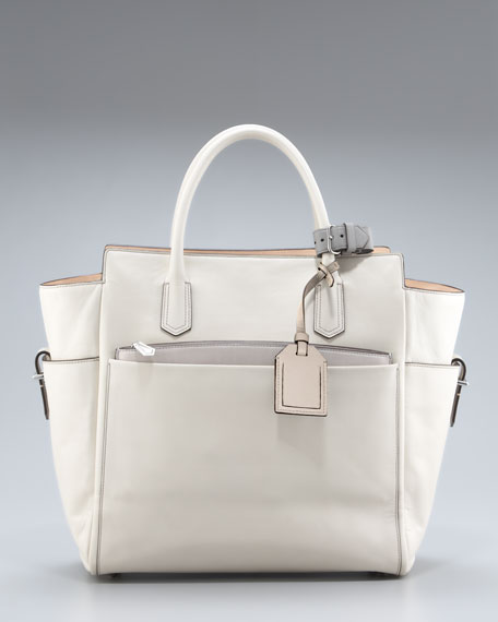 Atlantique Tote, Winter White/RK Gray