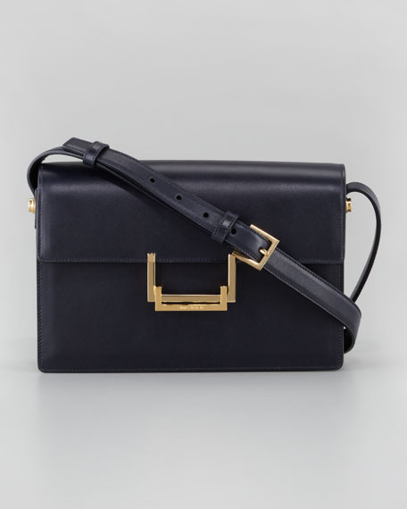 Medium Lulu Shoulder Bag, Dark Blue