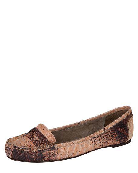 Snake-Embossed Loafer
